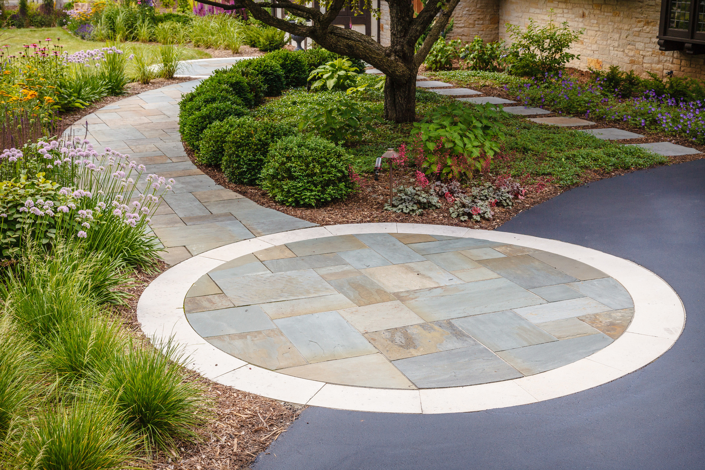 Traditional Bluestone Front Walk - Fox Point