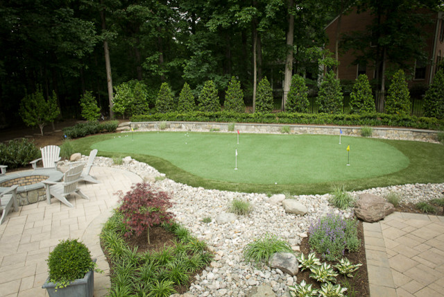 Putting Green with Dry Creek traditional-landscape