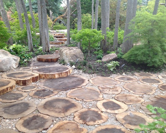 7,005 landscaping around a tree stump Home Design Photos