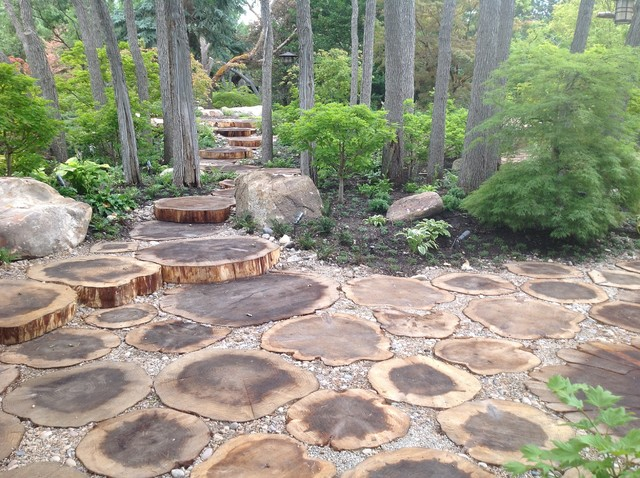 Landscaping With Wood Logs : Landscape architects designers
