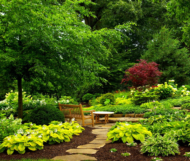 Tranquil Garden Nooks Landscape Chicago By Smalls