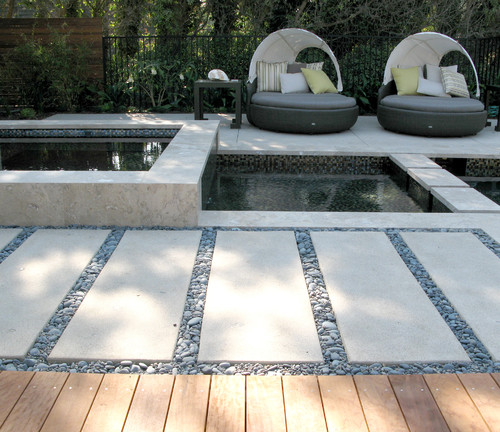 Landscape Concrete Slabs : Are the concrete slabs poured pavers custom other looks
