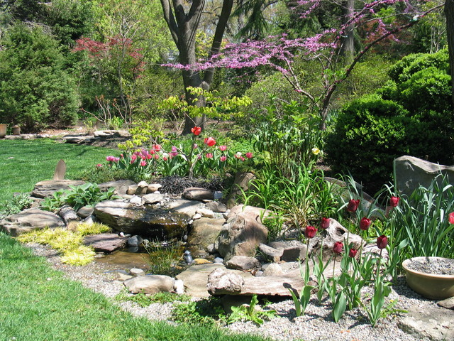 Tranquil takoma garden private residence rustic for Tranquil garden designs