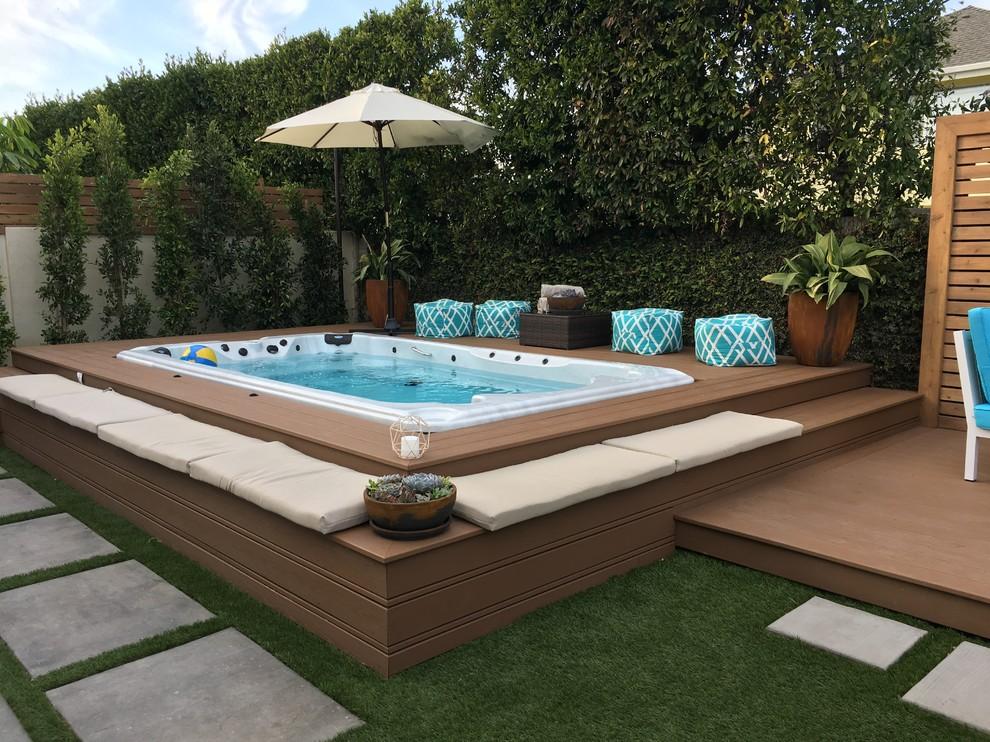 Trex deck & spa - Modern - Landscape - San Diego - by ...