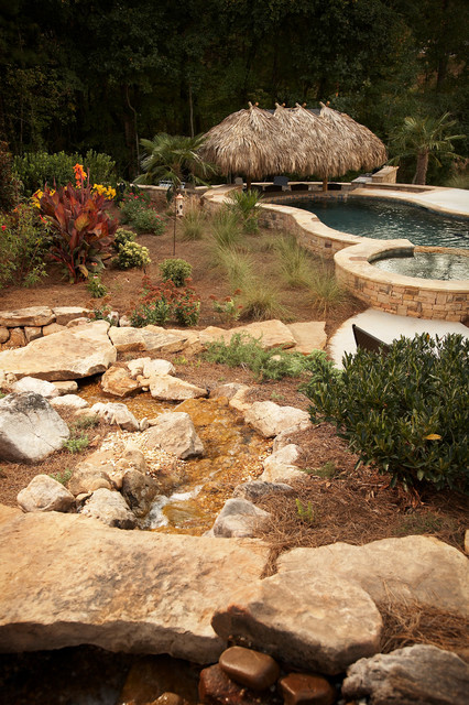 Tropical Backyard Oasis traditional-landscape