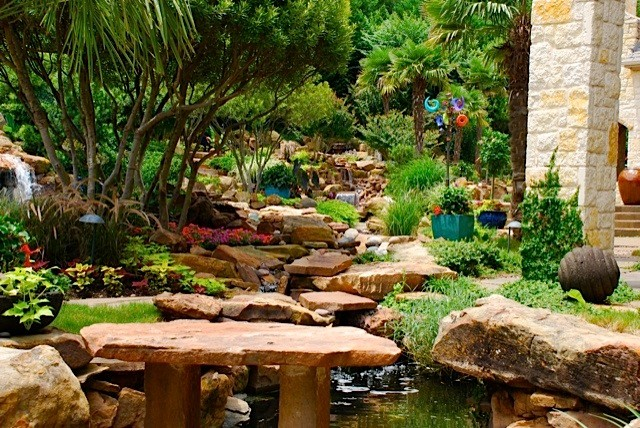 Tropical garden oasis Tropical Garden Dallas by Original