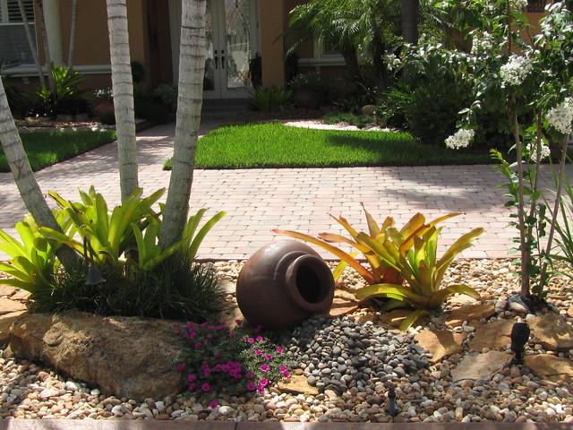 Tropical Rock Garden Kolonialstil Garten Miami
