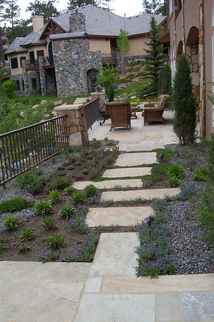 Troutdale in the Pines (before & after) eclectic-landscape