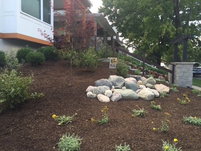 True north landscaping holy cross transitional for Landscaping rocks indianapolis