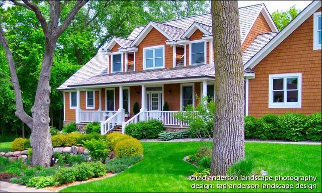 Twin Cities Suburban Farmhouse Front Gardens Minnesota