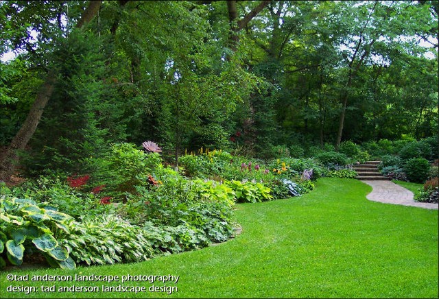 Twin Cities Suburban Farmhouse - Glade Gardens. Minnesota ... on Farmhouse Backyard Landscaping id=91740