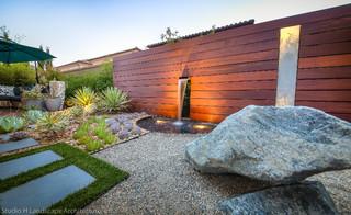 Unique Modern Water Feature Garden Light Design Contemporary