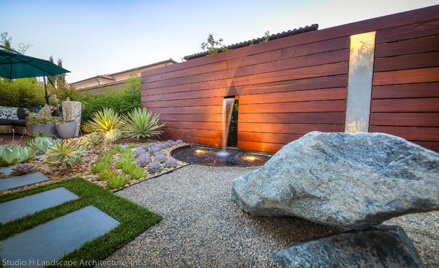 unique modern water feature  u0026 garden light design - contemporary - garden - orange county