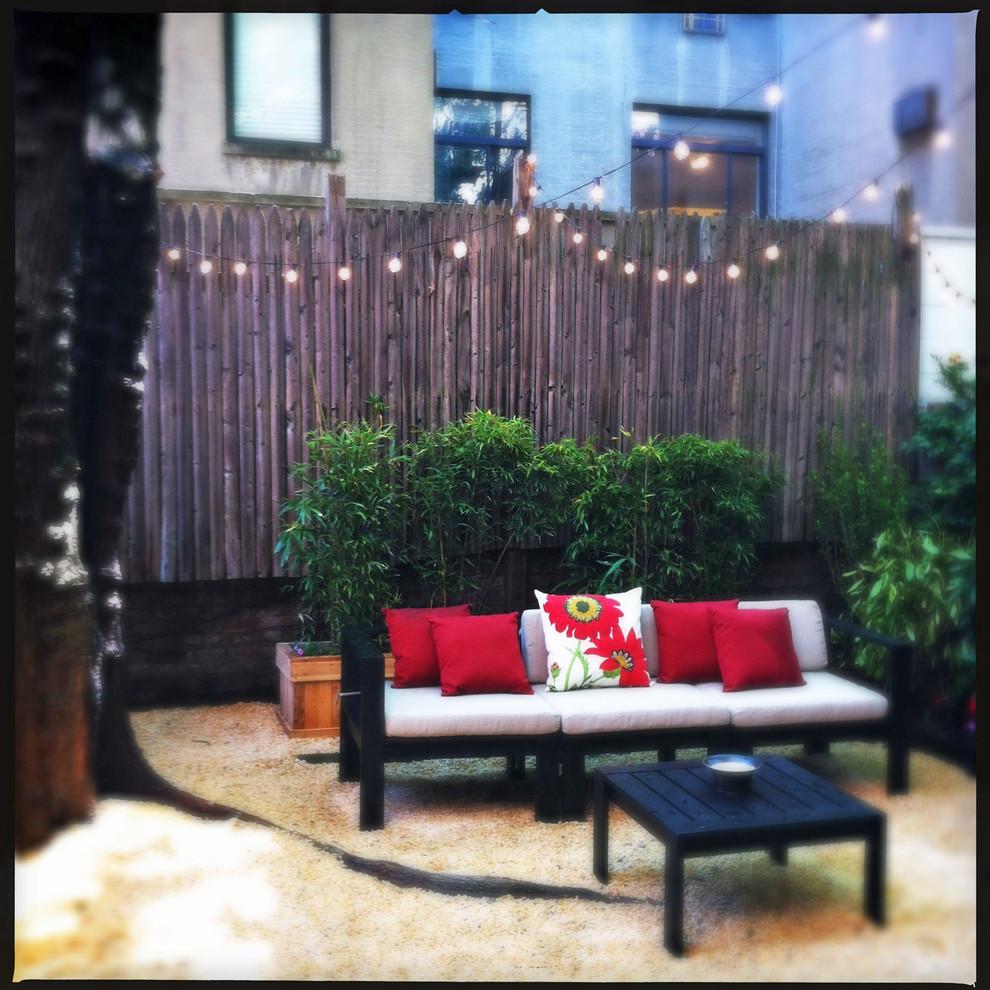 Backyard Gravel Patio Outdoor Seating