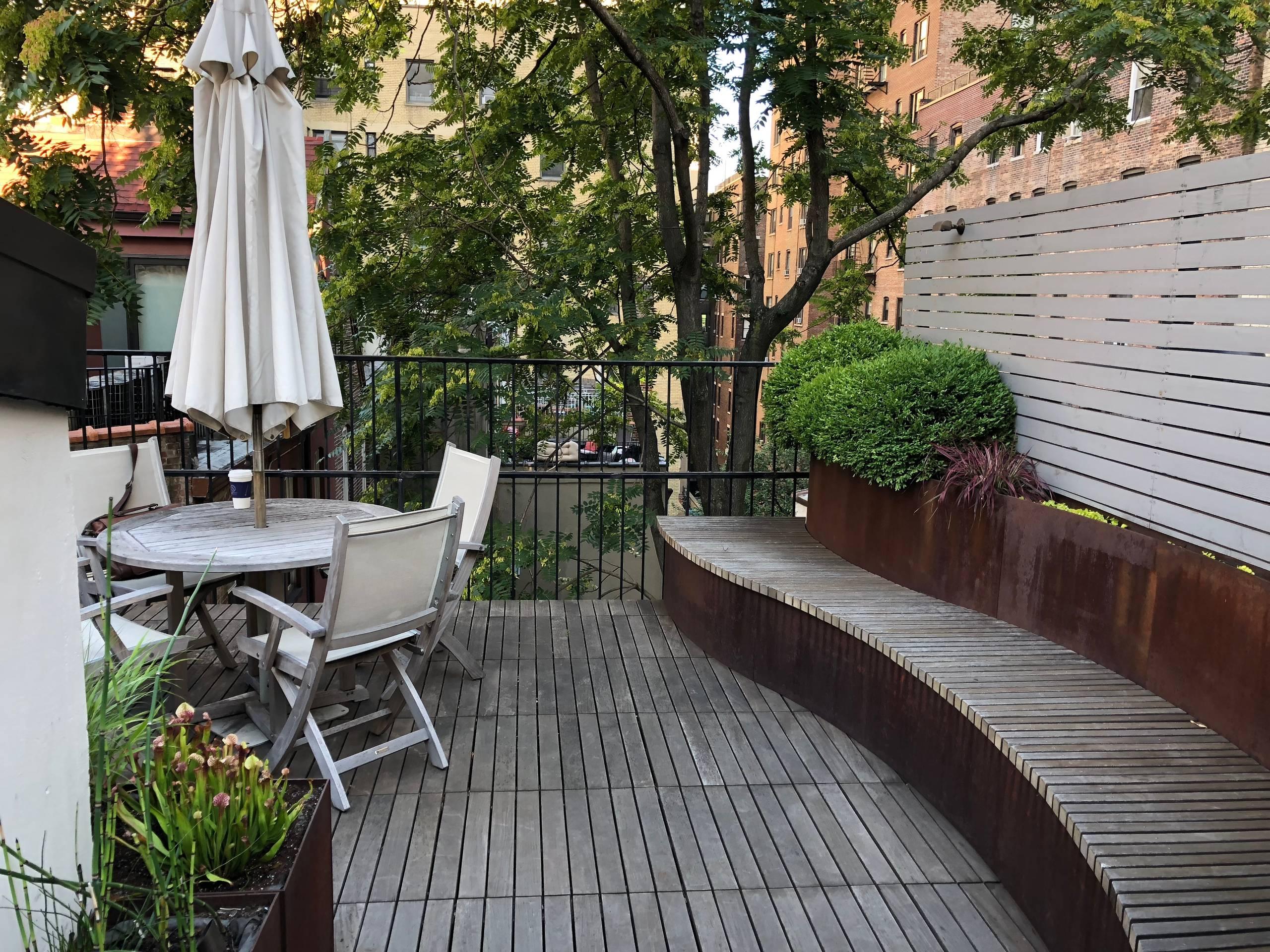 Upper West Side Rooftop Garden