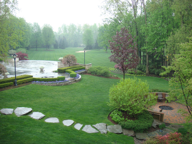 Upscale Residential Estate Landscape in Clinton Twp, MI traditional-landscape