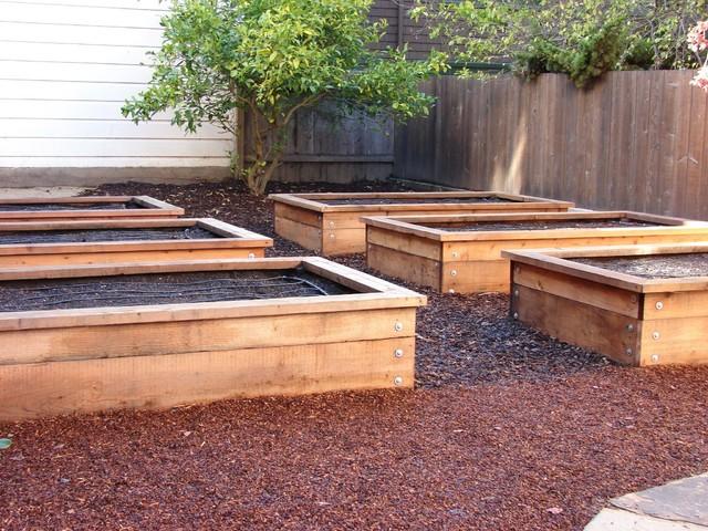 Vegetable Boxes Traditional Garden