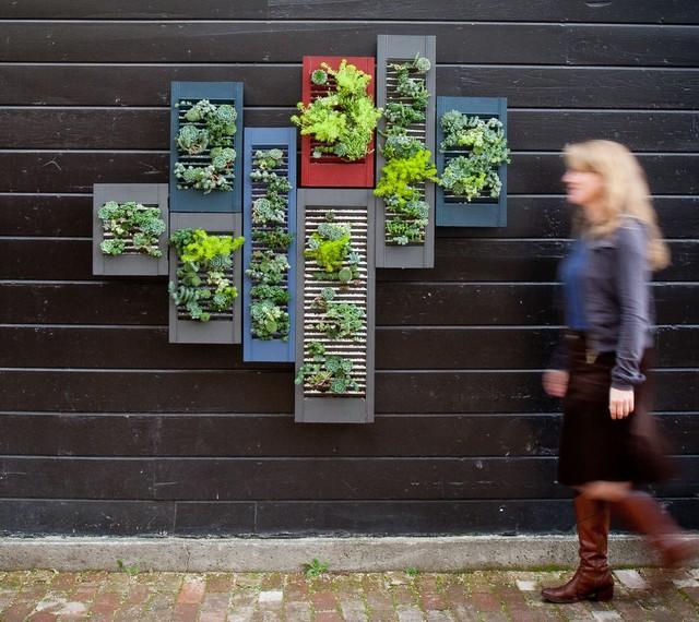 Vertical Walls eclectic-landscape