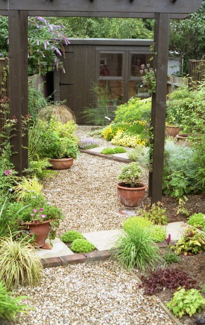 Very small xeriscape cottage garden for Very small garden