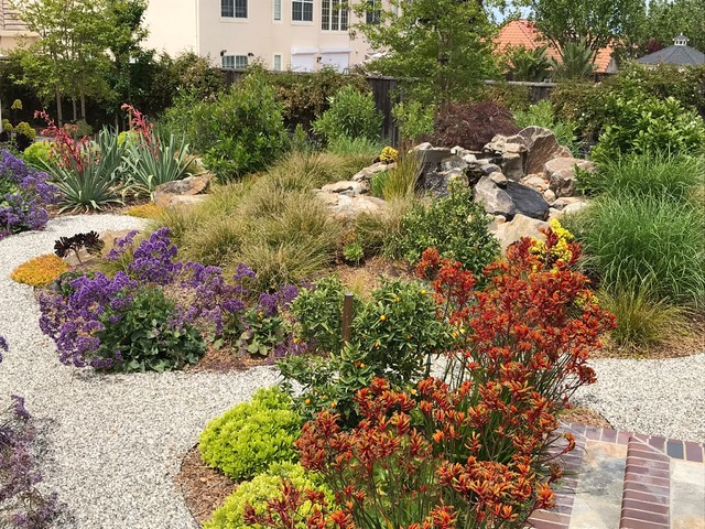 This is an example of a traditional landscaping in San Francisco.