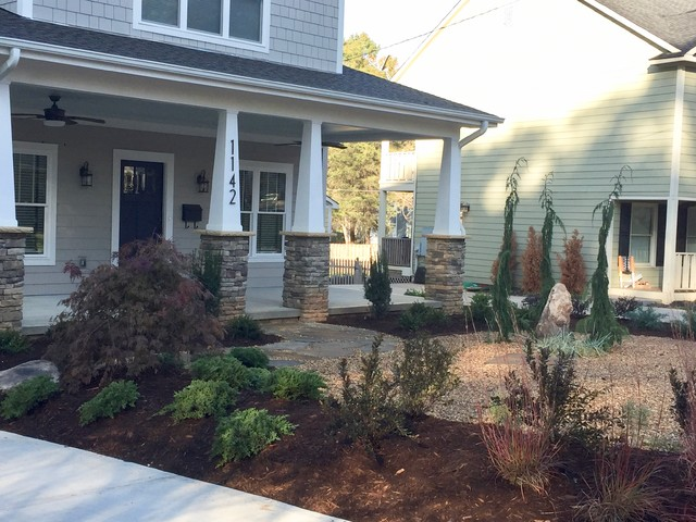 This is an example of a contemporary landscaping in Charlotte.