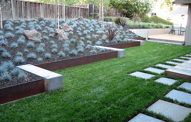 This is an example of a modern landscaping in San Francisco.