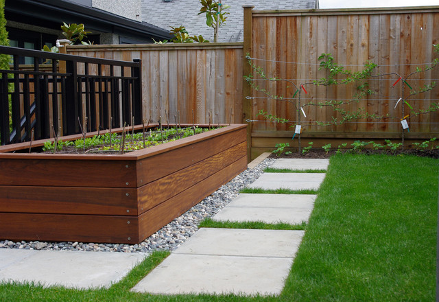 W 14th residence contemporary landscape Modern flower beds