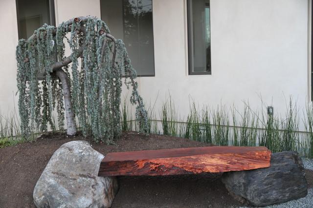 Dream Kitchen Modern Zen Bamboo and Stone modern-landscape