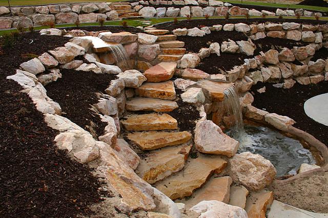 walkout basements rock window wells landscape