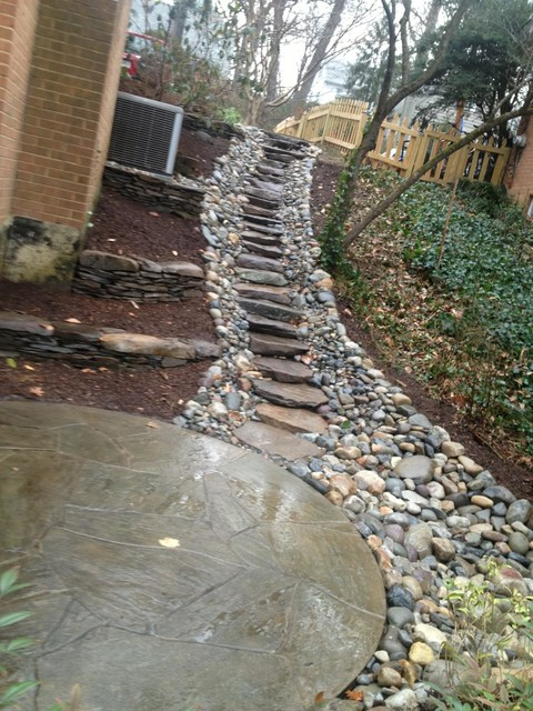 Walkways contemporary landscape dc metro by for Outdoor drainage solutions