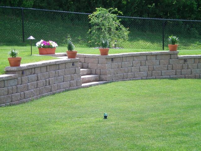 Walls and Steps modern-landscape