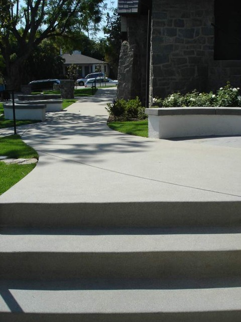 Washed and Exposed Concrete - Natural Appeal traditional-landscape