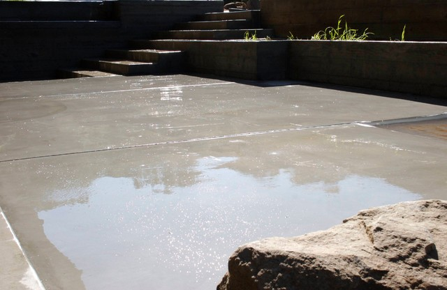 Charming Washed And Exposed Concrete   Polished Concrete Modern Landscape