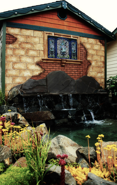 Landscape Boulders Tacoma : Water feature decorative rock faux landscaping remodel