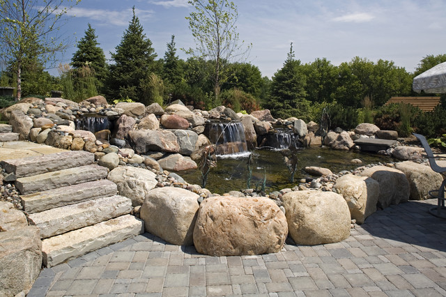 Water Feature traditional landscape