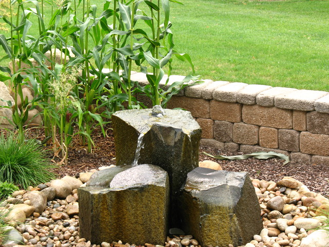 Water Feature Pondless Contemporary Landscape Other Metro By Boden Haus Landscape Inc