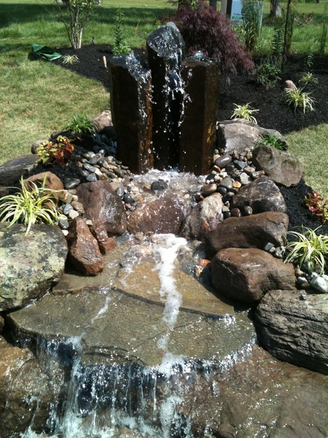 Water features eclectic-landscape