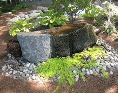 Water features traditional landscape