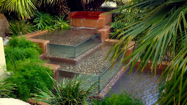 Water features tropical landscape las vegas by for Custom landscaping