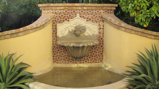 Water features decorative tile for Mediterranean architecture features