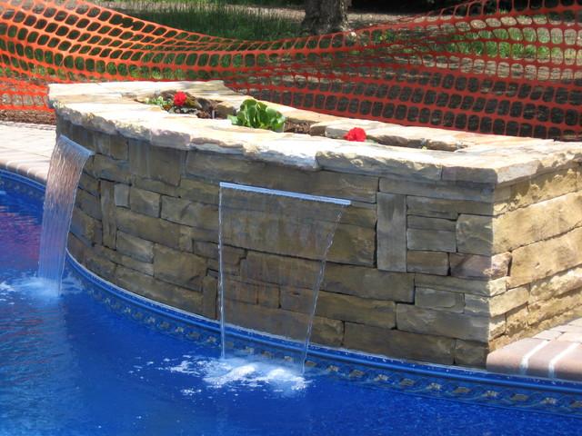 Water features, slides, spas traditional-landscape