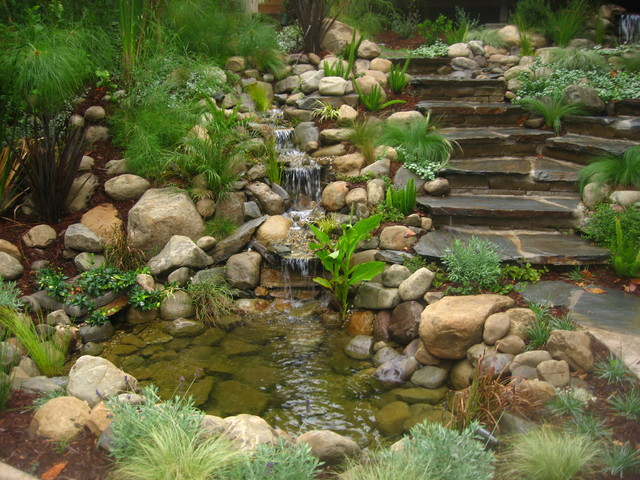 Water Features Contemporary Landscape Los Angeles By Stout Design Build