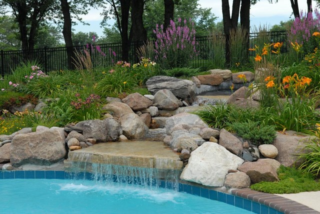 Water Features contemporary landscape