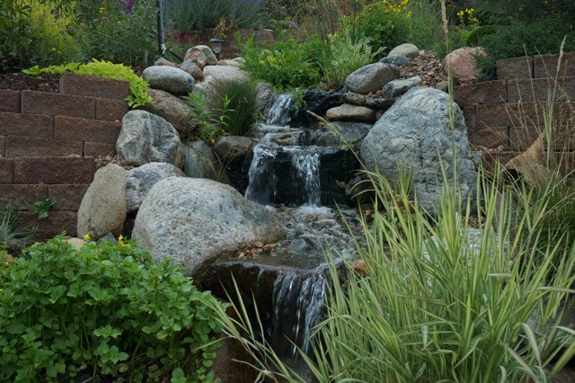 Water Features Through Walls traditional-landscape
