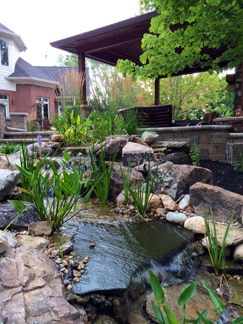 Water features for Vive exterior design indianapolis