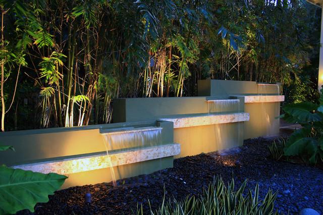 Water Garden Oasis Modern Landscape Miami By Lewis
