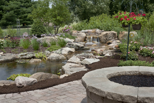 Water Gardens and Waterfalls - Traditional - Landscape ...