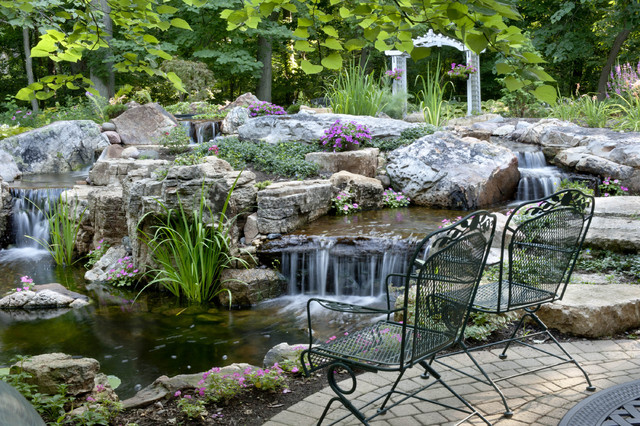 Water Gardens and Waterfalls traditional-landscape