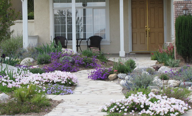 water wise front yard landscape