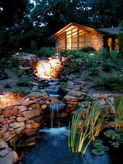 Waterfall and Pond Water Feature